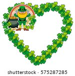 funny heart shaped frame with... | Shutterstock .eps vector #575287285