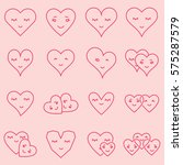 vector icon set of various... | Shutterstock .eps vector #575287579