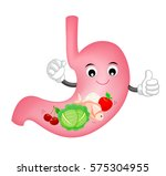 cute cartoon stomach character. ... | Shutterstock .eps vector #575304955