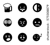 emotions icon. set of 9... | Shutterstock .eps vector #575308879