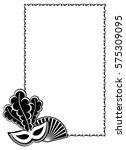 black and white silhouette ... | Shutterstock . vector #575309095