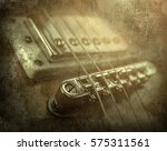 Rock Guitar. Close Up View Par...