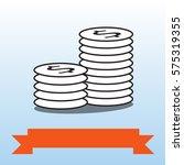 vector image of dollar coins... | Shutterstock .eps vector #575319355