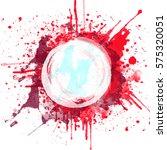 abstract watercolor hand... | Shutterstock . vector #575320051