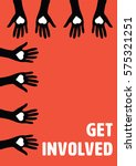 vector icon of get involved... | Shutterstock .eps vector #575321251