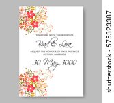 wedding invitation with red... | Shutterstock .eps vector #575323387