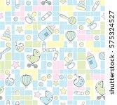 seamless pattern for new born... | Shutterstock .eps vector #575324527