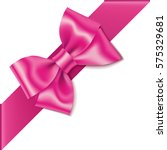 decorative pink bow with... | Shutterstock .eps vector #575329681