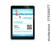 electronic ticket for the... | Shutterstock .eps vector #575330077