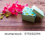 vintage background with a gift... | Shutterstock . vector #575332294