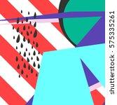 geometric pattern in memphis... | Shutterstock .eps vector #575335261