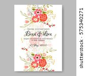 wedding invitation with red... | Shutterstock .eps vector #575340271