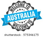 australia. welcome to australia ... | Shutterstock .eps vector #575346175