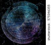 3d illuminated distorted sphere ...   Shutterstock . vector #575346355