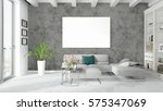 modern bright interior with... | Shutterstock . vector #575347069