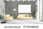modern bright interior with... | Shutterstock . vector #575348869