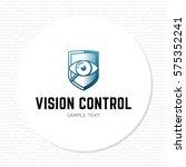 vision control logo design... | Shutterstock .eps vector #575352241