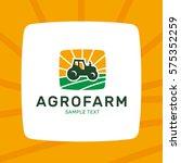 tractor agrofarm logo design... | Shutterstock .eps vector #575352259