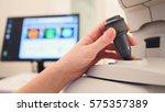 optometrist equipment joystick  ... | Shutterstock . vector #575357389