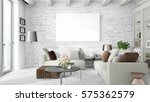 modern bright interior with... | Shutterstock . vector #575362579
