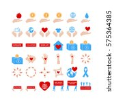 various colorful vector icon... | Shutterstock .eps vector #575364385