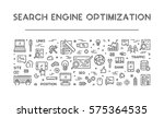 vector line concept of seo.... | Shutterstock .eps vector #575364535