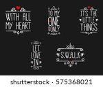 vector icon of happy valentines ... | Shutterstock .eps vector #575368021