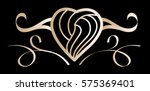 exclusive luxury golden heart... | Shutterstock .eps vector #575369401