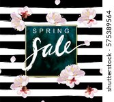 """spring sale"" hand written... | Shutterstock .eps vector #575389564"