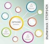 abstract web design bubble ... | Shutterstock .eps vector #575391424