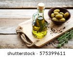 flavored olive oil with... | Shutterstock . vector #575399611