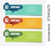 web sale banner | Shutterstock .eps vector #575401675