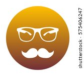 mustache and glasses sign.... | Shutterstock .eps vector #575406247