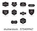vector icon set for summer... | Shutterstock .eps vector #575409967