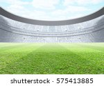 a generic seated stadium with a ... | Shutterstock . vector #575413885