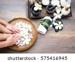 spa treatment and product for... | Shutterstock . vector #575416945