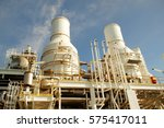 exhaust of gas turbine engine... | Shutterstock . vector #575417011