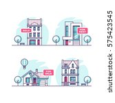 set of urban and suburban... | Shutterstock .eps vector #575423545