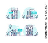 set of urban and suburban... | Shutterstock .eps vector #575423557