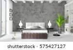 modern bright interior . 3d... | Shutterstock . vector #575427127