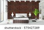 modern bright interior . 3d... | Shutterstock . vector #575427289