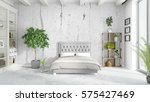 modern bright interior . 3d... | Shutterstock . vector #575427469