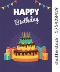 birthday greeting and...   Shutterstock .eps vector #575428429