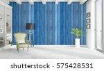 modern bright interior . 3d... | Shutterstock . vector #575428531