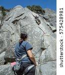 rock climbing adventure ... | Shutterstock . vector #575428981