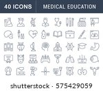 set vector line icons  sign and ... | Shutterstock .eps vector #575429059