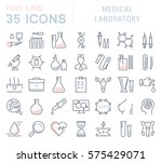 set vector line icons  sign and ... | Shutterstock .eps vector #575429071