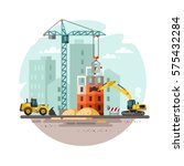 construction site  building a... | Shutterstock .eps vector #575432284