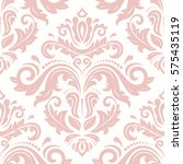 seamless damask pattern.... | Shutterstock . vector #575435119