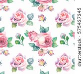 seamless floral pattern with... | Shutterstock . vector #575437345